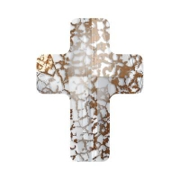 Swarovski Бусина арт. 5378 Cross, Gold Patina