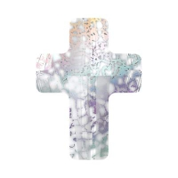 Swarovski Бусина арт. 5378 Cross, White Patina