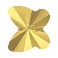 Swarovski бусина Бабочка Butterfly-6мм, Metallic Sunshine (5754)