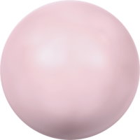 10 бусин Crystal PASTEL Rose  Pearl