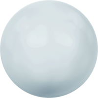 10 бусин Crystal PASTEL Blue Pearl