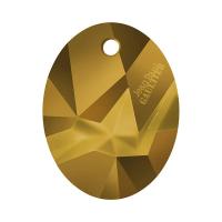 Swarovski Коллекционная Подвеска с логотипом арт.6910 Kaputt Oval, Dorado