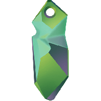 Подвеска 28мм ,Crystal Scarabaeus Green (6913)