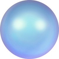 10 бусин Crystal Iridescent Light Blue  Pearl