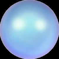 10 бусин Crystal Iridescent Light Blue  Pearl