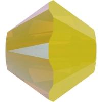 Swarovski 10 Бусин, 4мм, 5328 Yellow Opal Shimmer