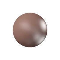 10 бусин Crystal Velvet Brown  Pearl