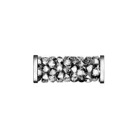 Swarovski Fine Rocks Tube 15мм #01Light Chrome, стальные Спейсеры (арт.5950)