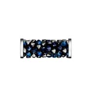 Swarovski Fine Rocks Tube 15мм #01Bermuda Blue, стальные Спейсеры (арт.5950)
