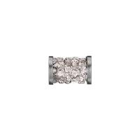 Swarovski Fine Rocks Tube 15мм  #001 Moonlight, стальные Спейсеры (арт.5950)