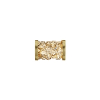 Swarovski Fine Rocks Tube 15мм  #001 Golden Shadow с золотыми Спейсерами (арт.5950)