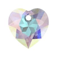 Swarovski Сердце многогранное 10.5мм Crystal AB (6432)