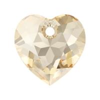 Swarovski Сердце многогранное 10.5мм Golden Shadow (6432)