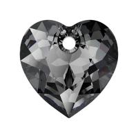 Swarovski Сердце многогранное 10.5мм Silver Night (6432)