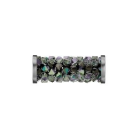 Swarovski Fine Rocks Tube 15мм #01Paradise Shine, стальные Спейсеры (арт.5950)