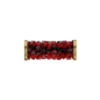 Swarovski Fine Rocks Tube #227 Light Siam с золотыми Спейсерами (арт.5950)