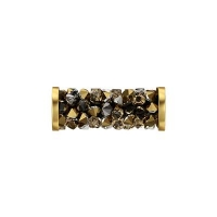 Swarovski Fine Rocks Tube mix#113 с золотыми Спейсерами (арт.5950)