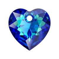 Swarovski Сердце многогранное 10.5мм Bermuda Blue (6432)