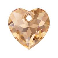 Swarovski Сердце многогранное 10.5мм Light Colorado Topaz (6432)