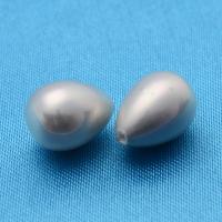 Жемчуг Майорка Жемчужный серый цвет, полупросверленная капля 16*20мм