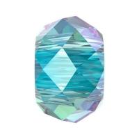 Бусина Swarovski, 6мм Briolette XL Hole (арт.5042) Aquamarine Shimmer 2x
