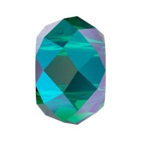 Бусина Swarovski, 6мм Briolette XL Hole (арт.5042) Emerald Shimmer 2x