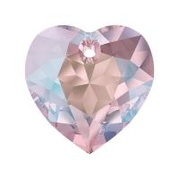 Swarovski Сердце многогранное 10.5мм Light Rose Shimmer(6432)