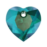 Swarovski Сердце многогранное 10.5мм Emerald Shimmer (6432)