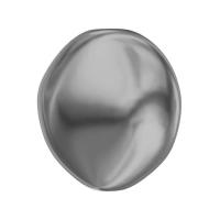 Жемчуг Swarovski барочный, плоский 14мм (арт.5842); Dark Grey, 1 бусина