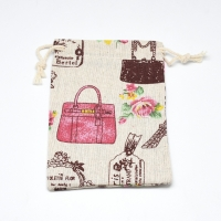 Мешочек из льняной ткани, шопинг