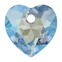 Swarovski Сердце многогранное 10.5мм Aquamarine Shimmer (6432)