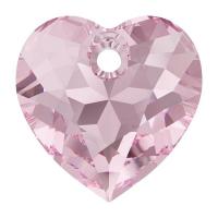 Swarovski Сердце многогранное 10.5мм Light Rose (6432)