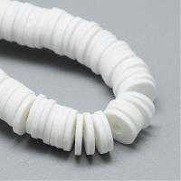 Рондели Белого пластика; 6*1мм; нить 40см