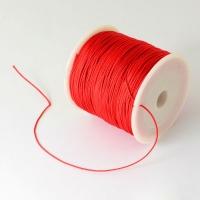 Нить для браслета Очень тонкая 0,8мм, цвет красный; 10 метров
