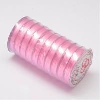Многослойная нить эластичная, Розовая, толщина 0.8мм; 10метров