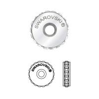Swarovski Becharmed 81001 Pave Stopper, размер 12мм  #001AB Crystal