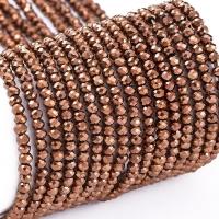 Хрустальные бусины В ТУБЕ -Рондель 2*1.5мм; бронза металл; 230 бусин