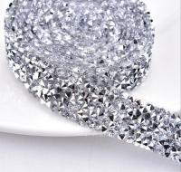 Кристальная лента Silver, 10*3см