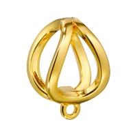 Бейл обжимной для бусин до 8мм; цвет золото
