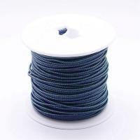 Стальной плетёный шнур с эффектом Мэмори, цвет джинсовый