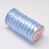 Многослойная нить эластичная, Голубая, толщина 0.8мм; 10метров