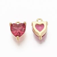 Подвеска mini малиновое Сердце 7мм; цвет золото