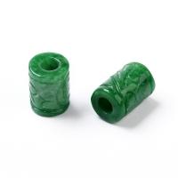 Нефрит Бусина колонная резная 15*10мм, 1 штука