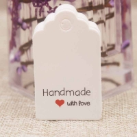 Этикетка HandMade with Love; 20 штук