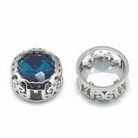 Кристалл в оправе Вензель Платина, форма Круг, 12мм, Capri Blue