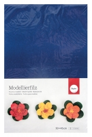 Фетр Rayher, Моделируемый, толщина 2мм; лист 30*45см; Тёмно-Синий