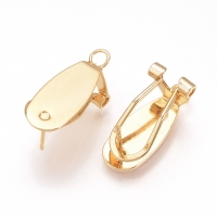 Швензы Овал для вклейки с петлёй, золото