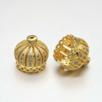 Концевик Корона 13мм, цвет золото