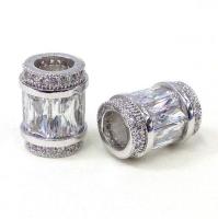 Бочонок с прозрачными кристаллами, цвет платина