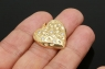 Подвеска Сердце-Клубничка с фианитами; цвет золото